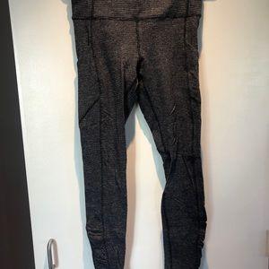 Lululemon Thermal Grey Leggings w Pockets